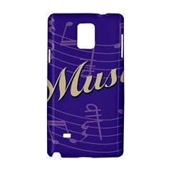 Music Flyer Purple Note Blue Tone Samsung Galaxy Note 4 Hardshell Case
