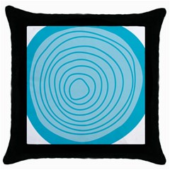 Mustard Logo Hole Circle Linr Blue Throw Pillow Case (black)