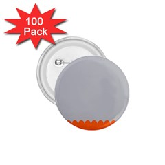 Orange Gray Scallop Wallpaper Wave 1 75  Buttons (100 Pack)