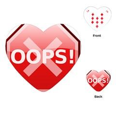 Oops Stop Sign Icon Playing Cards (heart)