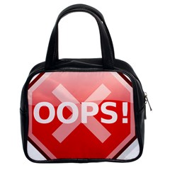 Oops Stop Sign Icon Classic Handbags (2 Sides)