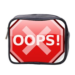 Oops Stop Sign Icon Mini Toiletries Bag 2 Side