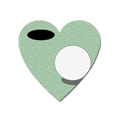 Golf Image Ball Hole Black Green Heart Magnet