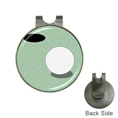 Golf Image Ball Hole Black Green Hat Clips With Golf Markers