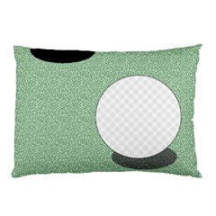 Golf Image Ball Hole Black Green Pillow Case