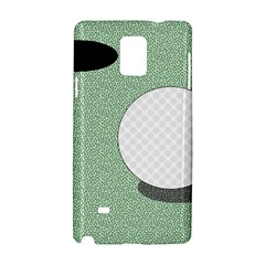 Golf Image Ball Hole Black Green Samsung Galaxy Note 4 Hardshell Case