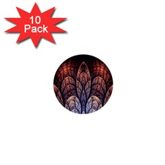 Abstract Fractal 1  Mini Buttons (10 pack)