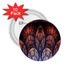 Abstract Fractal 2.25  Buttons (10 pack)