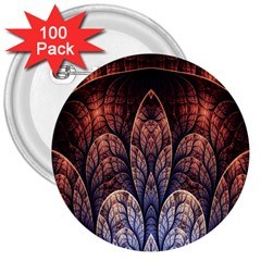 Abstract Fractal 3  Buttons (100 pack)