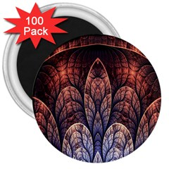 Abstract Fractal 3  Magnets (100 Pack)