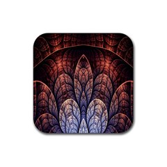 Abstract Fractal Rubber Square Coaster (4 pack)