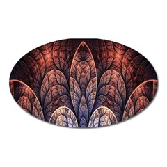 Abstract Fractal Oval Magnet