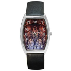 Abstract Fractal Barrel Style Metal Watch