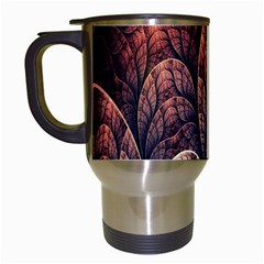 Abstract Fractal Travel Mugs (White)