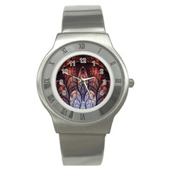 Abstract Fractal Stainless Steel Watch