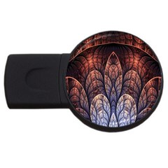 Abstract Fractal USB Flash Drive Round (4 GB)