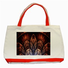 Abstract Fractal Classic Tote Bag (red)