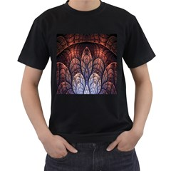 Abstract Fractal Men s T Shirt (black)