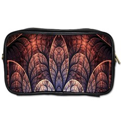 Abstract Fractal Toiletries Bags 2 Side