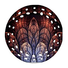 Abstract Fractal Round Filigree Ornament (two Sides)