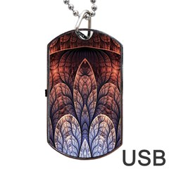 Abstract Fractal Dog Tag USB Flash (Two Sides)