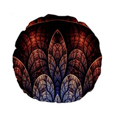 Abstract Fractal Standard 15  Premium Round Cushions