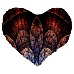Abstract Fractal Large 19  Premium Heart Shape Cushions
