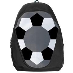 Pentagons Decagram Plain Black Gray White Triangle Backpack Bag