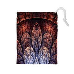 Abstract Fractal Drawstring Pouches (Large)