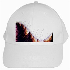 Abstract Lines White Cap