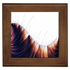 Abstract Lines Framed Tiles