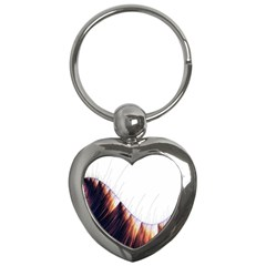 Abstract Lines Key Chains (Heart)