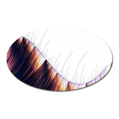Abstract Lines Oval Magnet