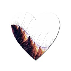 Abstract Lines Heart Magnet
