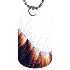 Abstract Lines Dog Tag (Two Sides)