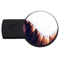 Abstract Lines USB Flash Drive Round (1 GB)
