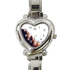 Abstract Lines Heart Italian Charm Watch