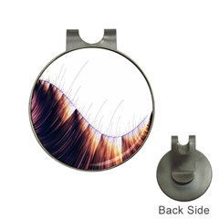 Abstract Lines Hat Clips With Golf Markers