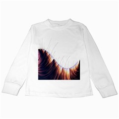 Abstract Lines Kids Long Sleeve T Shirts