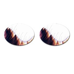 Abstract Lines Cufflinks (Oval)