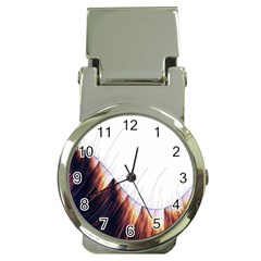 Abstract Lines Money Clip Watches