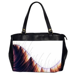 Abstract Lines Office Handbags (2 Sides)