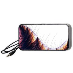 Abstract Lines Portable Speaker (black)