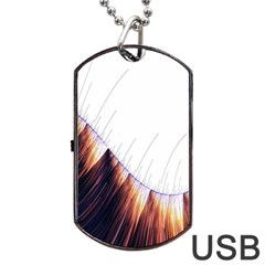 Abstract Lines Dog Tag Usb Flash (two Sides)