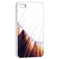 Abstract Lines Apple iPhone 4/4s Seamless Case (White)