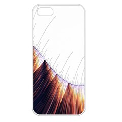 Abstract Lines Apple Iphone 5 Seamless Case (white)