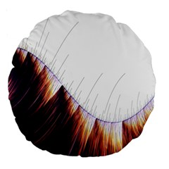 Abstract Lines Large 18  Premium Round Cushions