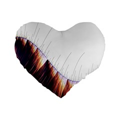 Abstract Lines Standard 16  Premium Heart Shape Cushions