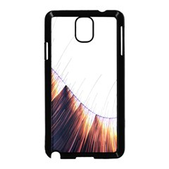 Abstract Lines Samsung Galaxy Note 3 Neo Hardshell Case (Black)