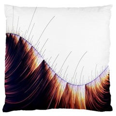 Abstract Lines Large Flano Cushion Case (two Sides)